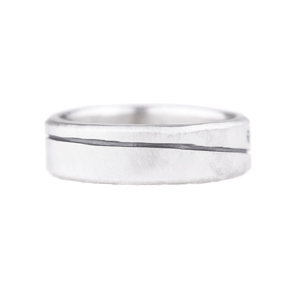 NEW! Line and Diamond Round Ring by Colleen Mauer Designs