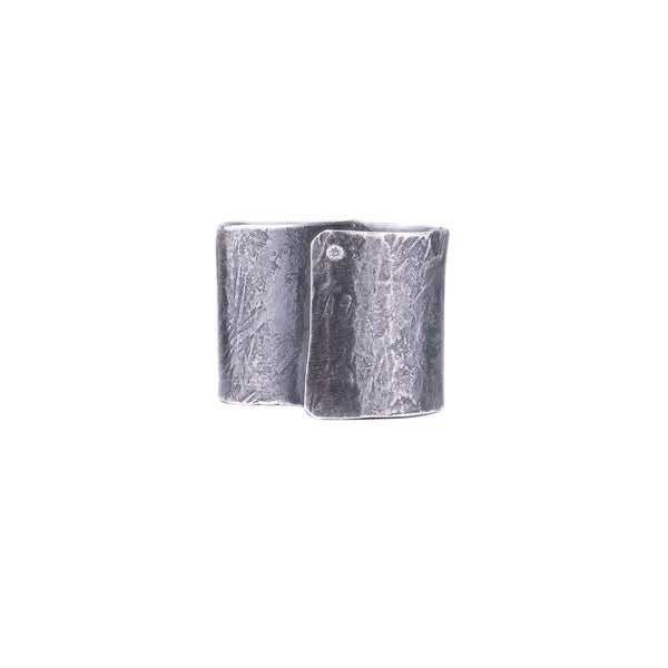 NEW! Sterling Silver Diamond Wrap Ring by Sasha Walsh