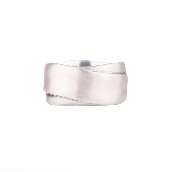 NEW! Crossroads Wide Sterling Silver Band by Matsu