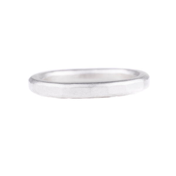 NEW! 2.5mm Thick Individual Round Silver Band with Diamond by Colleen Mauer Designs