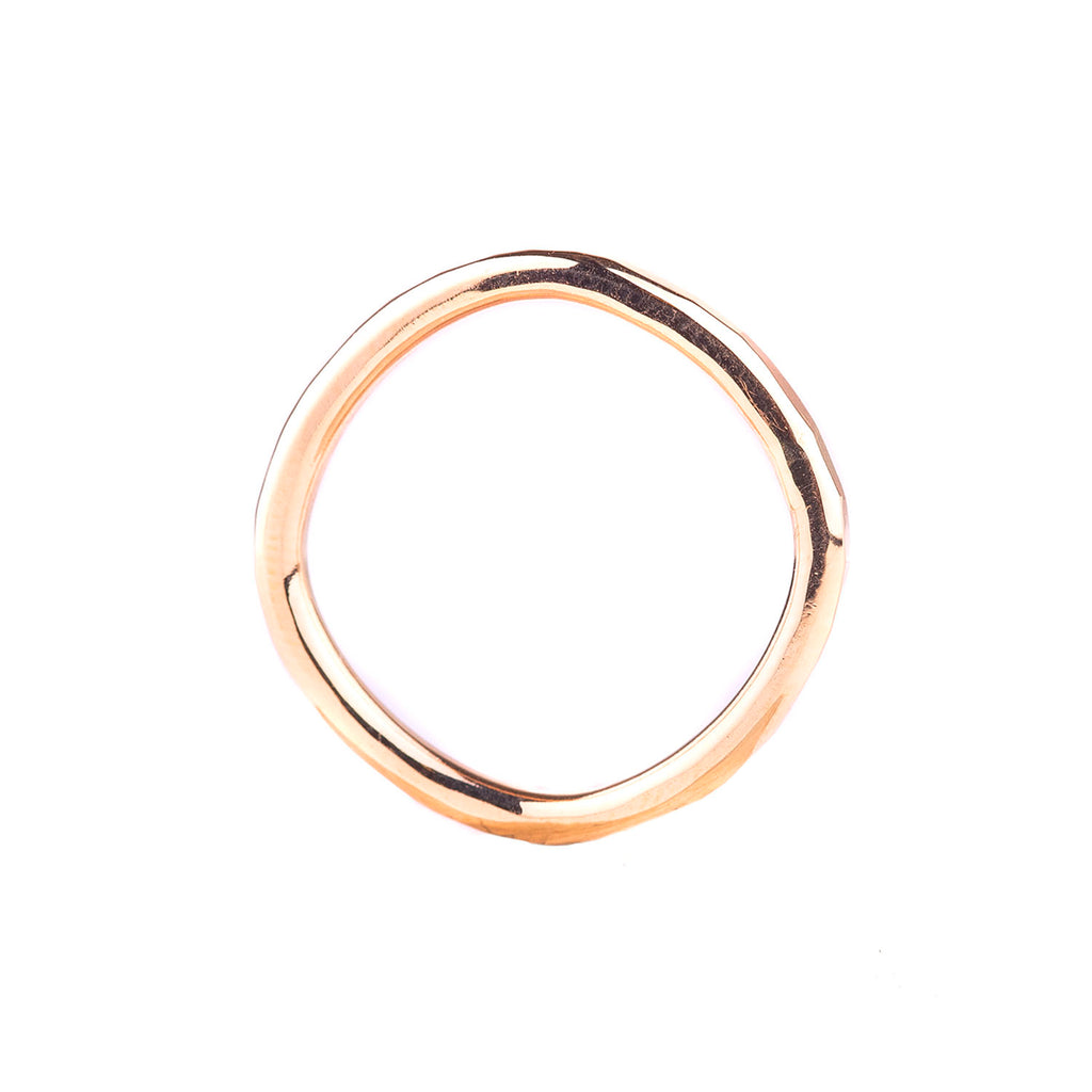 NEW! Yellow Gold Thick Individual Round Ring by Colleen Mauer Designs