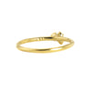 Three Rose Cut Diamond 14k Gold Ring by N+A