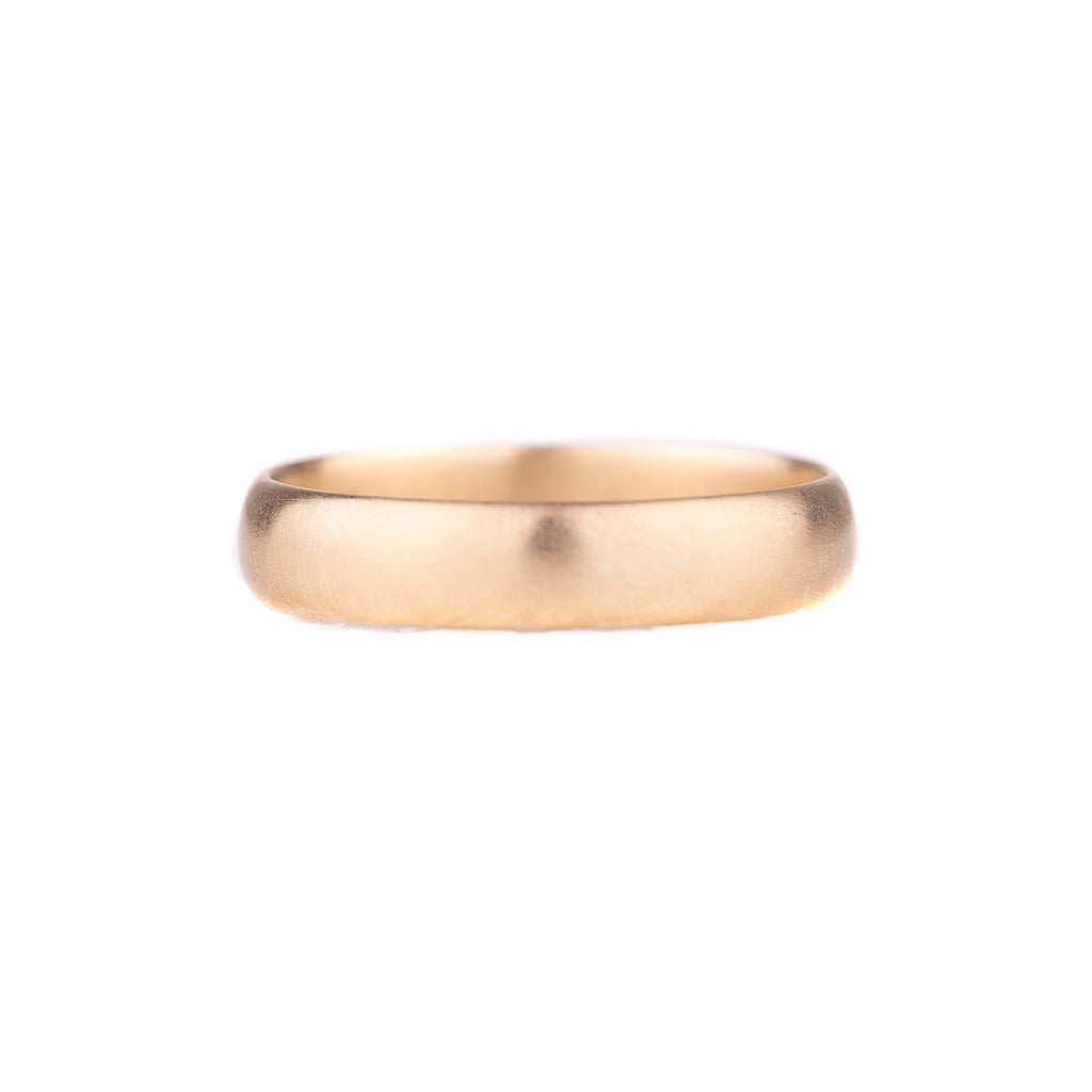 NEW! Half Round 14k Yellow Gold Band by Carla Caruso