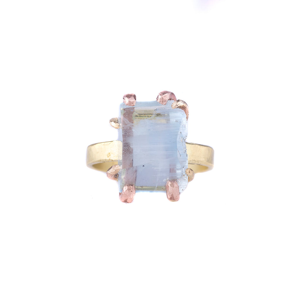 NEW! Large Aquamarine Ring by Variance Objects
