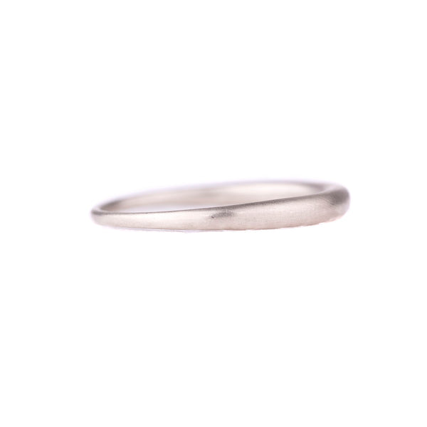 NEW! 14k White Gold Tapered Band by Carla Caruso