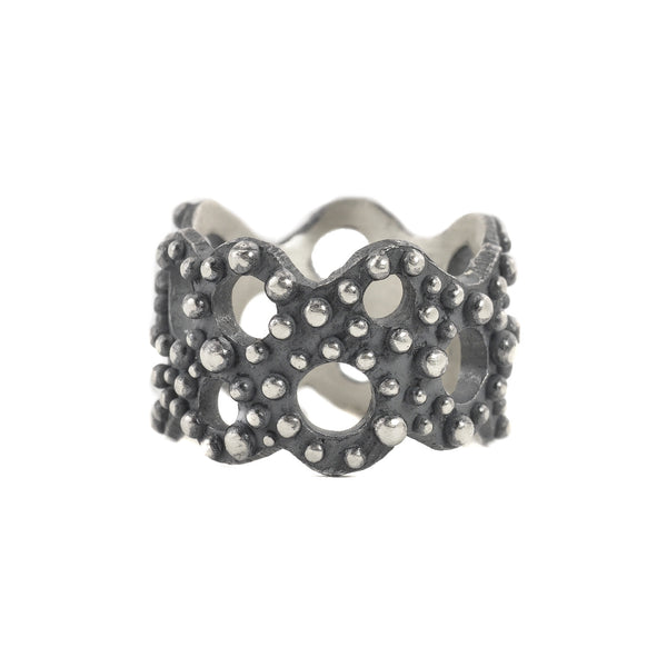 NEW! Oxidized Sterling Silver Bumpy Band with Open Holes by Dahlia Kanner