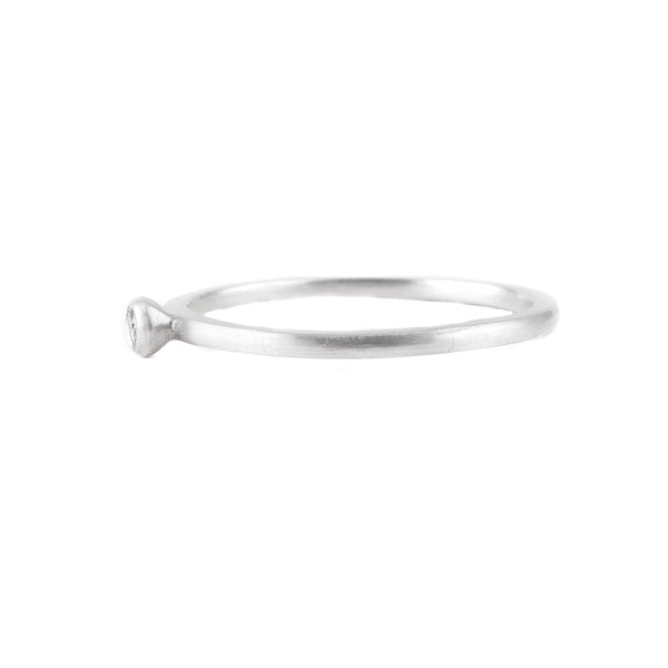 NEW! Tek Grey Diamond Silver Ring by Dan-Yell