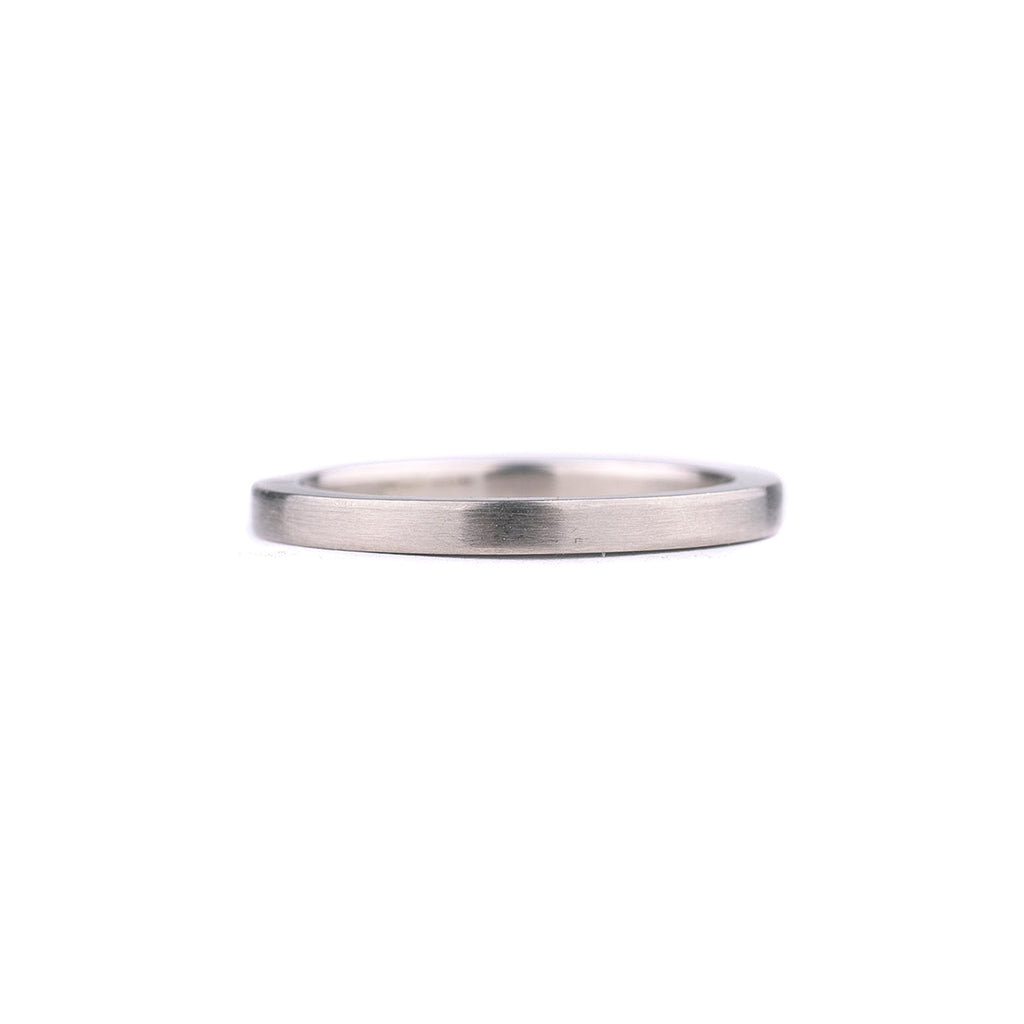 SALE! Thick Brushed Palladium White Gold Band by EC Design