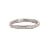 NEW! Hammered Oxidized Silver Band with White Diamonds by Yasuko Azuma