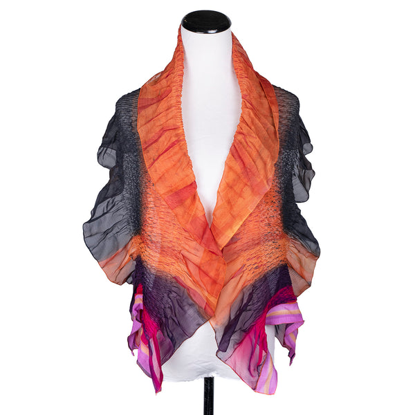 NEW! Ripple Wrap Scarf in Flame by Wendy Edmonds