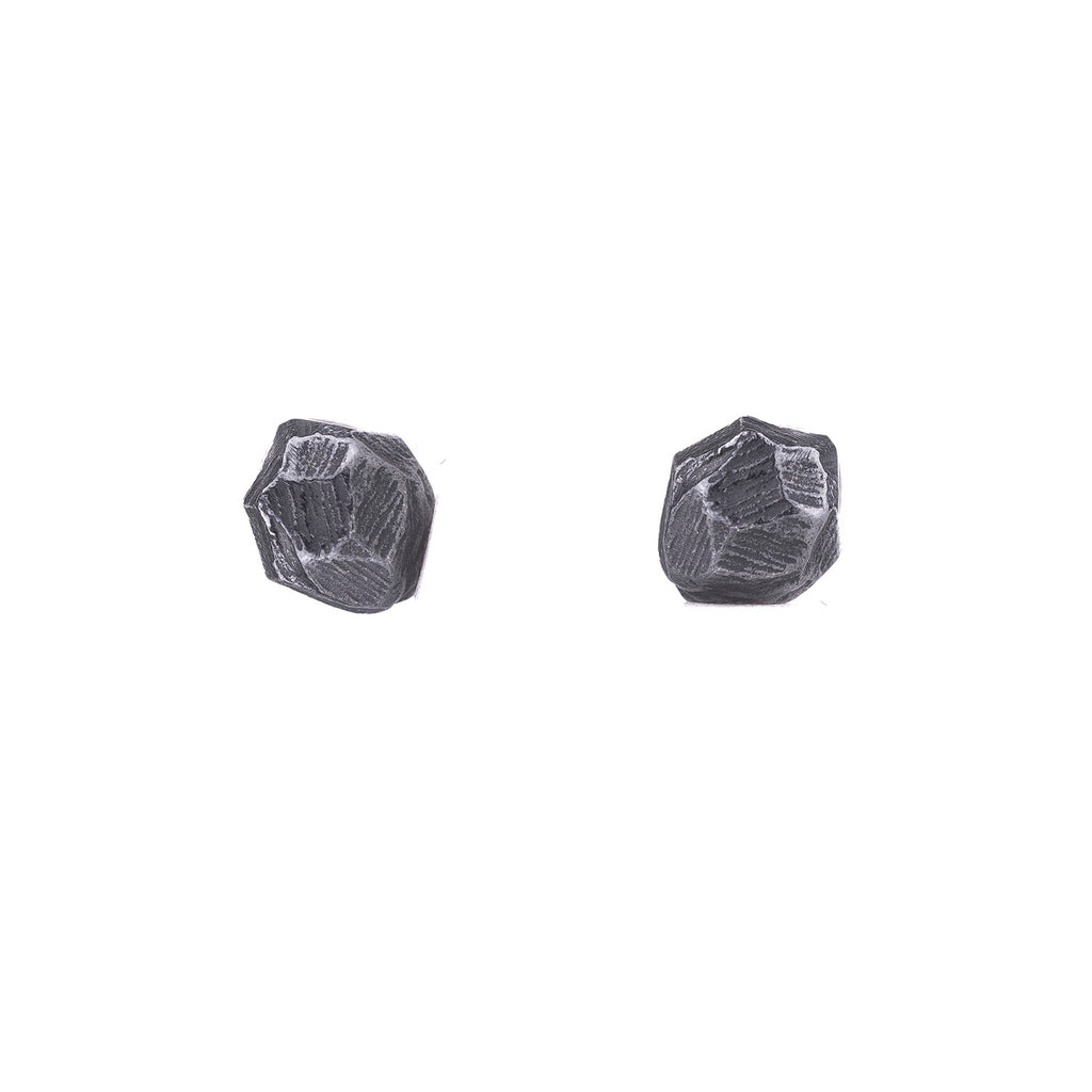 NEW! Oxidized Sterling Silver Rock Studs by Dahlia Kanner