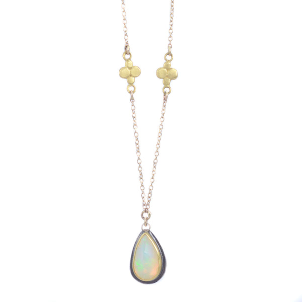 Rose Cut Opal Necklace by Ananda Khalsa