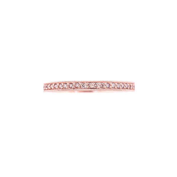 NEW! Rose Gold Stacking Pave Diamond Band by Dawes Design