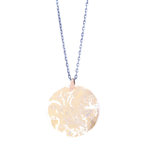 NEW! Gold Leaf Encasement Necklace by Luana Coone