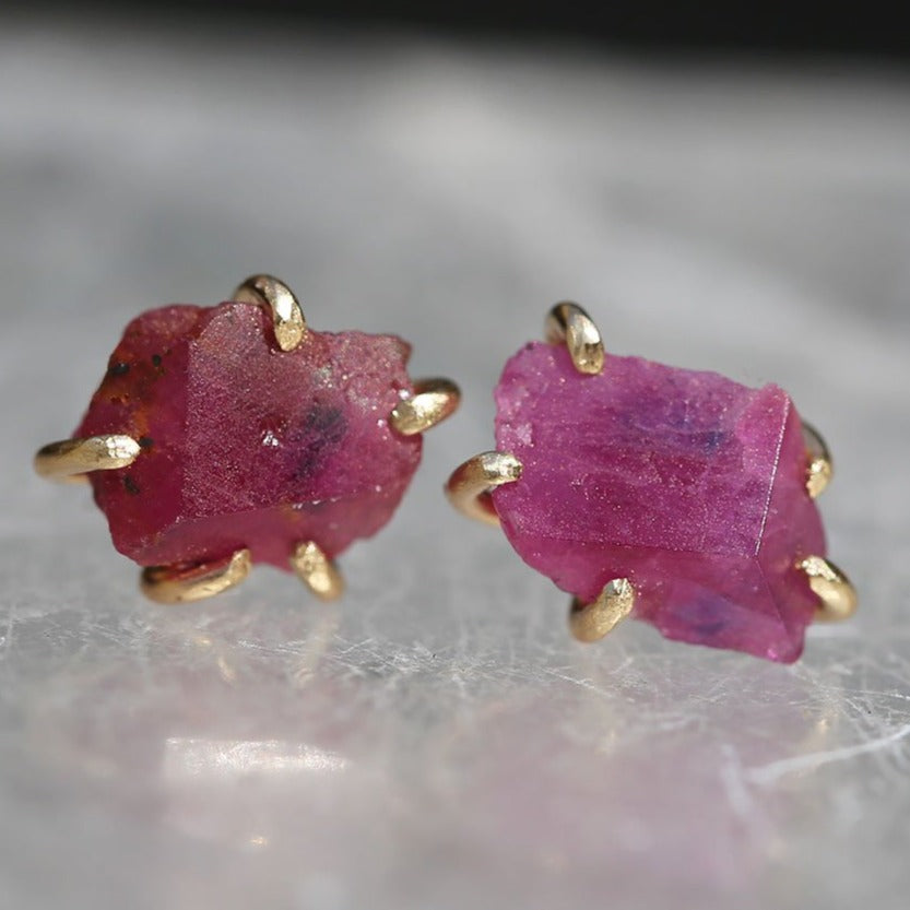 NEW! Medium Ruby Studs by Variance Objects