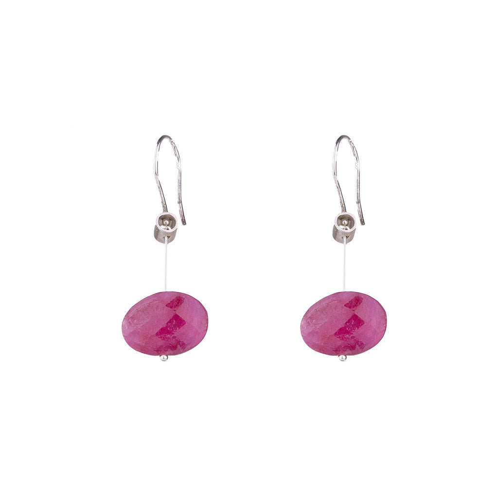 NEW! Large Pivot Ruby Earrings by Serena Kojimoto