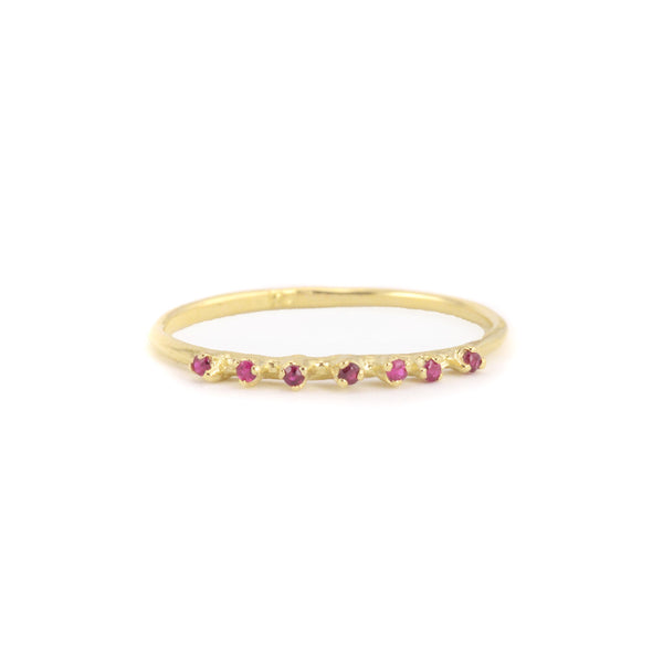 Seven Ruby Ring by N+A