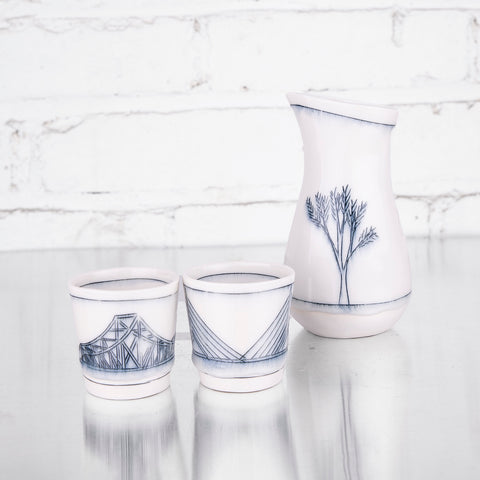 NEW!! Sake Set by Liz Kinder
