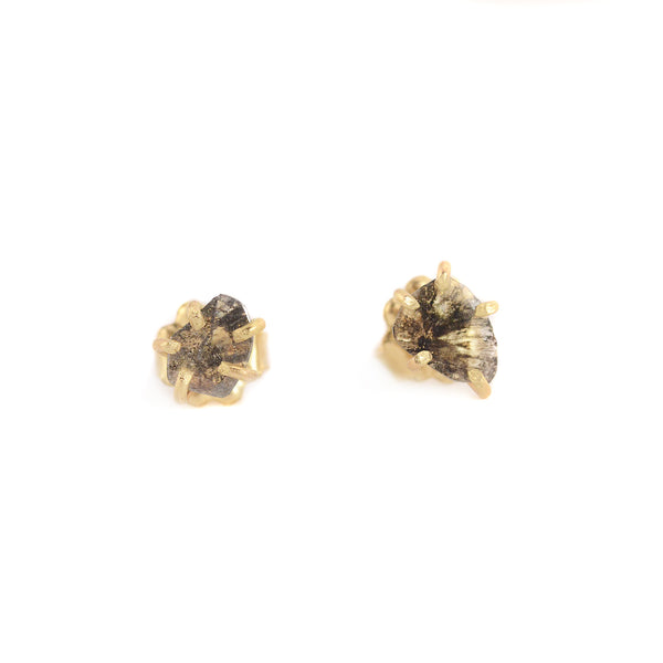 NEW! Salt and Pepper Slice Diamond Studs by Variance