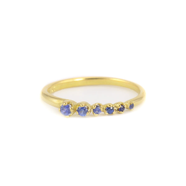 Six Blue Sapphire Ring by N+A