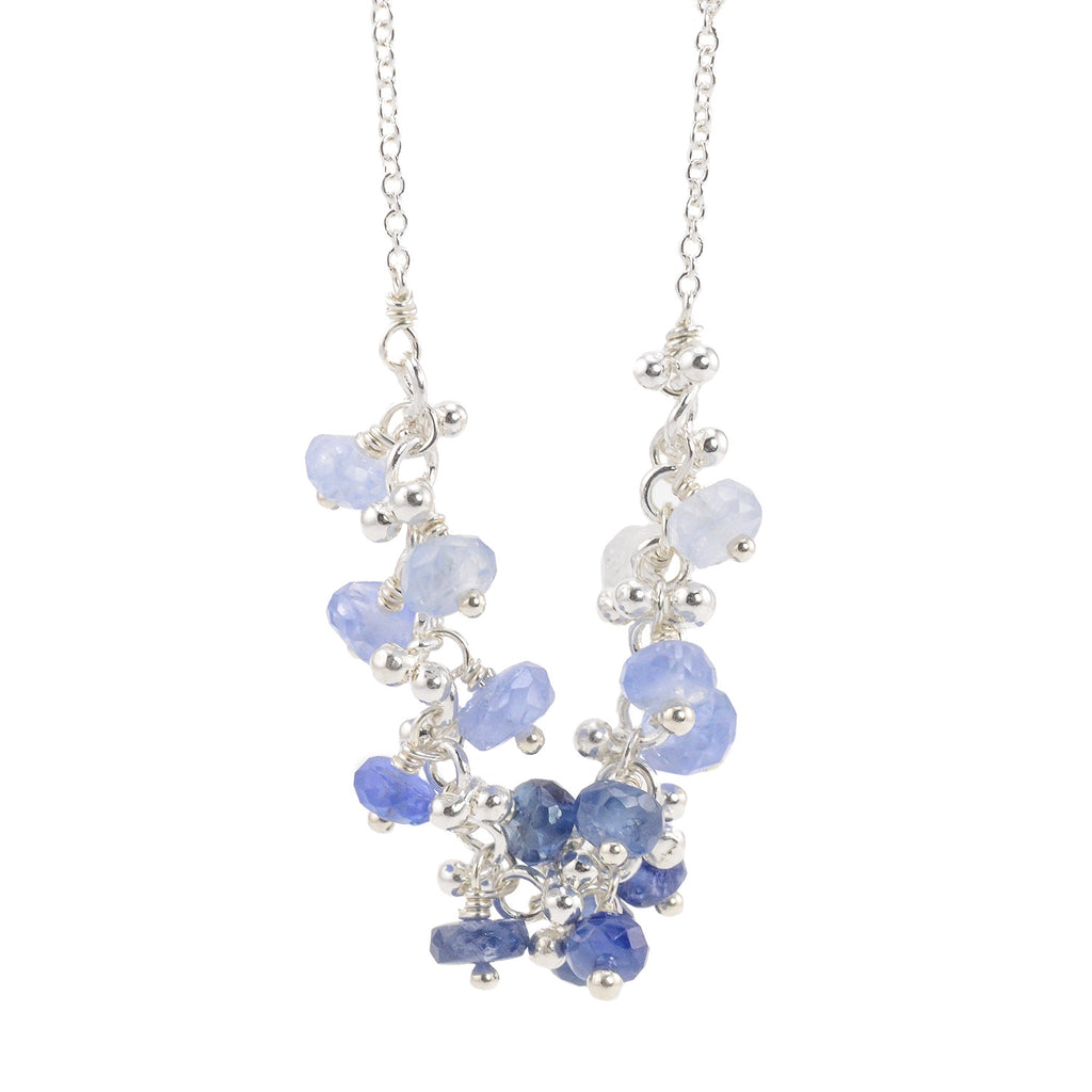 NEW! Sapphire Bouquet Silver Granulation Necklace by Magally Lopez