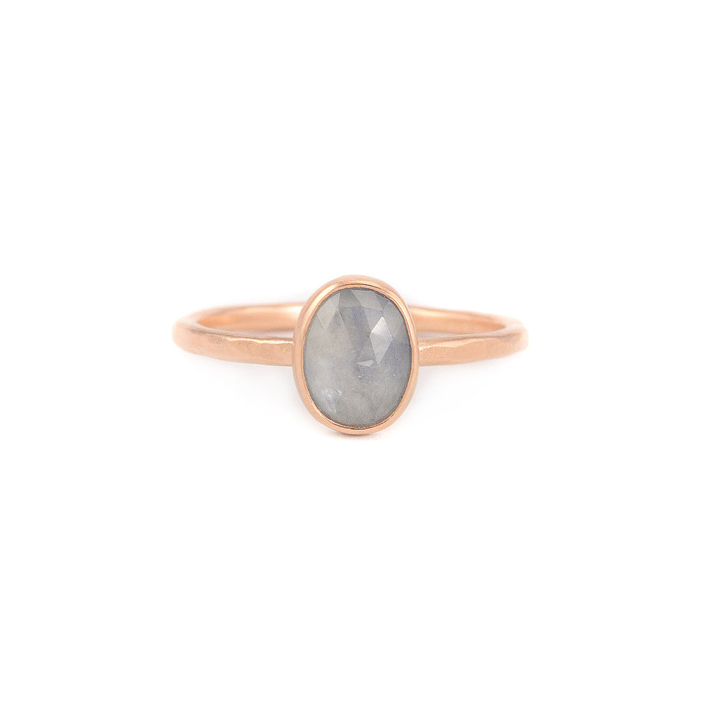 Oval Light Blue Sapphire Ring by EC Design