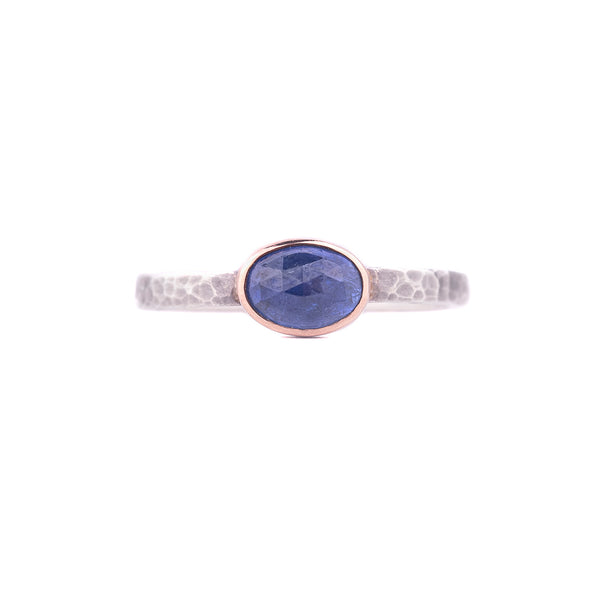 SALE! Rose Cut Blue Sapphire Ring by EC Design