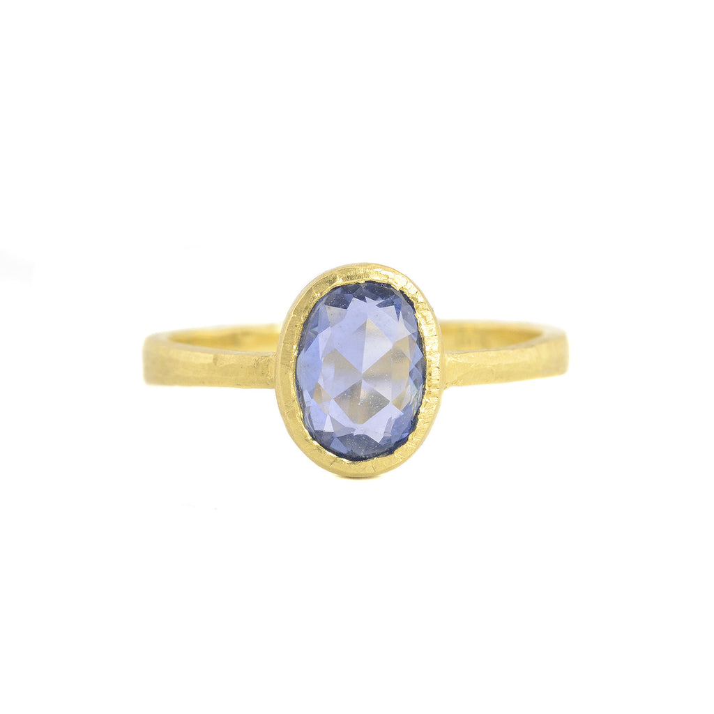 NEW! Hewn Oval Blue Sapphire Ring by Dawes Design