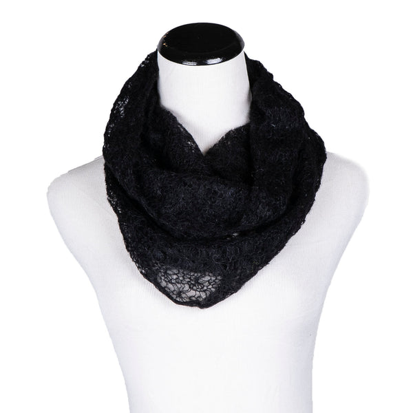 NEW! Spider Web Loop Scarf in Black by Olena Zylak