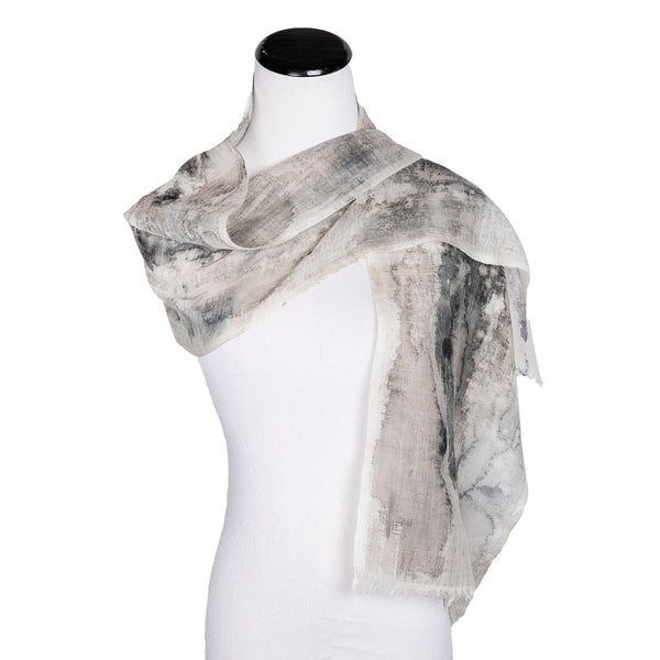 NEW! Narrow Handpainted Wool Scarf by Yuh Okano