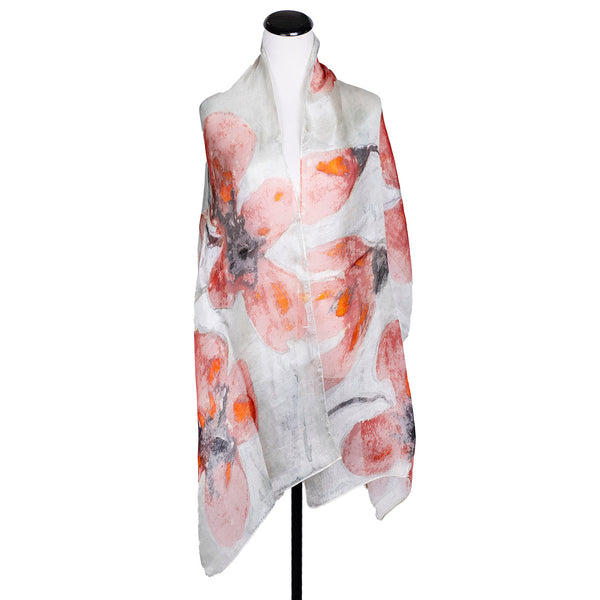 NEW! Handpainted Silk Scarf by Yuh Okano