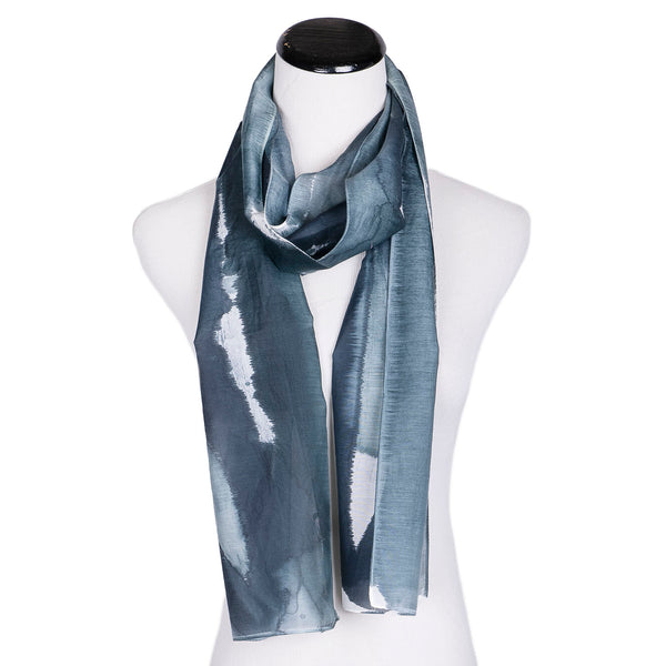 NEW! Silk/Cotton Handpainted Scarf by Yuh Okano