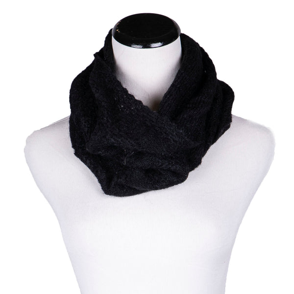 NEW! Whisper Circle Scarf in Black by Olena Zylak