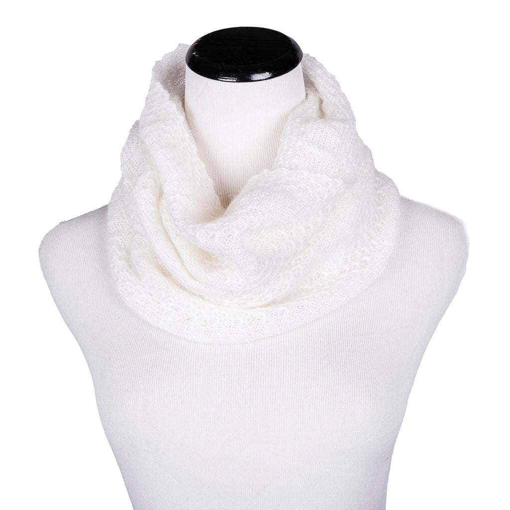SALE! Whisper Circle Scarf in Cream by Olena Zylak