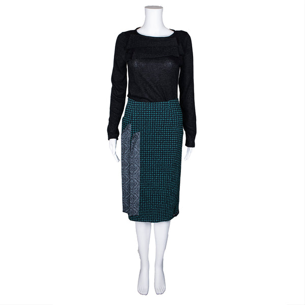 SALE! Green & Black Skirt by Karaka