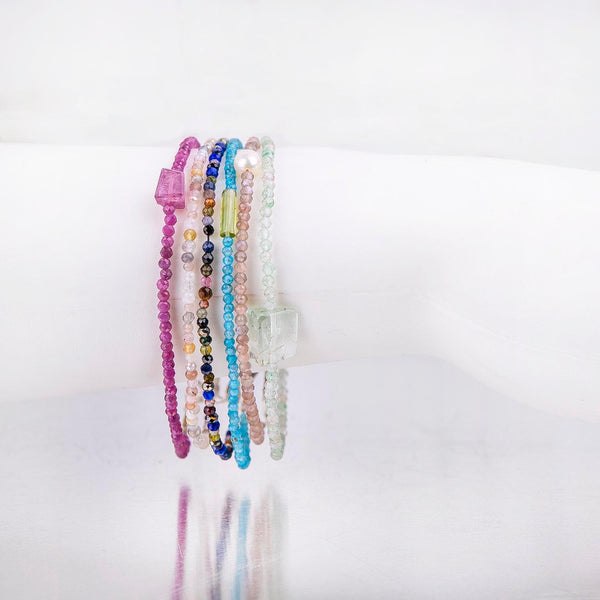 NEW! Gemstone Bracelets in Silver by Margaret Solow