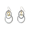 Silver and Brass Earrings by Eric Silva