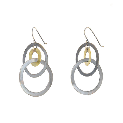 NEW! Silver and Brass Earrings by Eric Silva