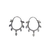 Silver Cherry Tree Hoop Earrings (in Silver in Ox Silver) by EAM