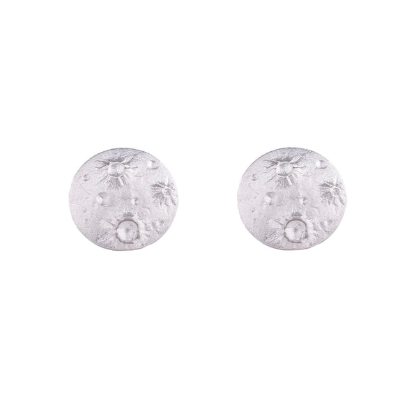 NEW! Full Moon Earrings in Sterling Silver by Luana Coonen