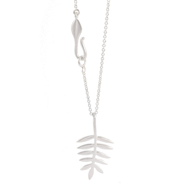 NEW! Silver Small Fern Pendant by EAM