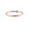 NEW! One Diamond Stacker Ring in 18k Rose Gold by Heather Guidero