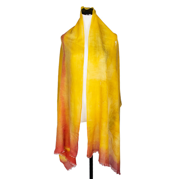 NEW! Sunset River Handpainted Wool Cashmere Scarf by Yuh Okano