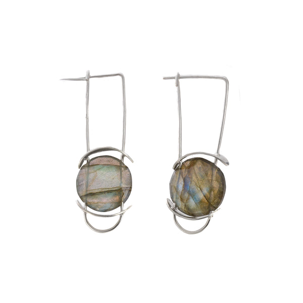 NEW! Slipper Labradorite Earrings by Serena Kojimoto
