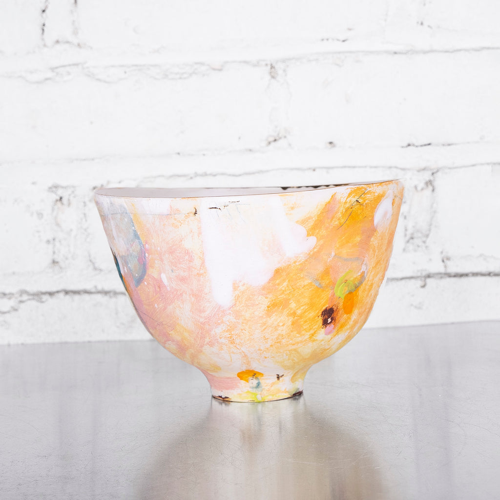 Small Cereal Bowl by Daniel Bellow - Fire Opal - 1