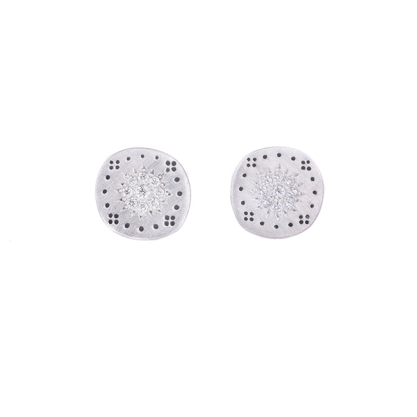 NEW! Small Cluster Stud Earrings by Adel Chefridi