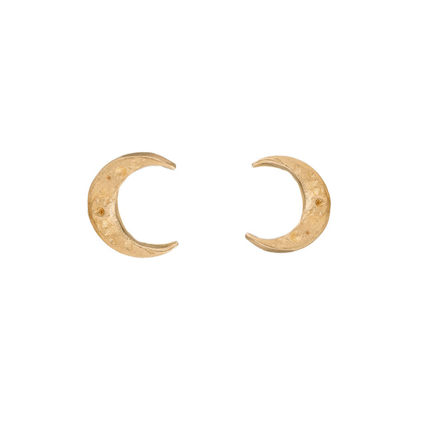 NEW! Tiny Crescent Moon Earrings in Gold by Luana Coonen