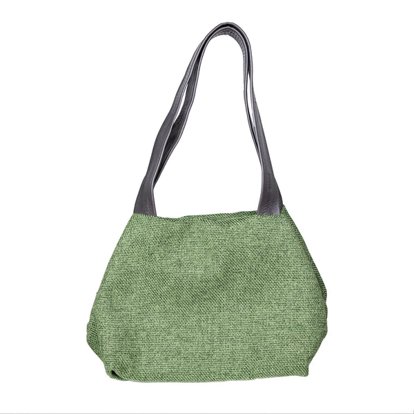 NEW! Small Fabric Cube Bag in Green by Kisim