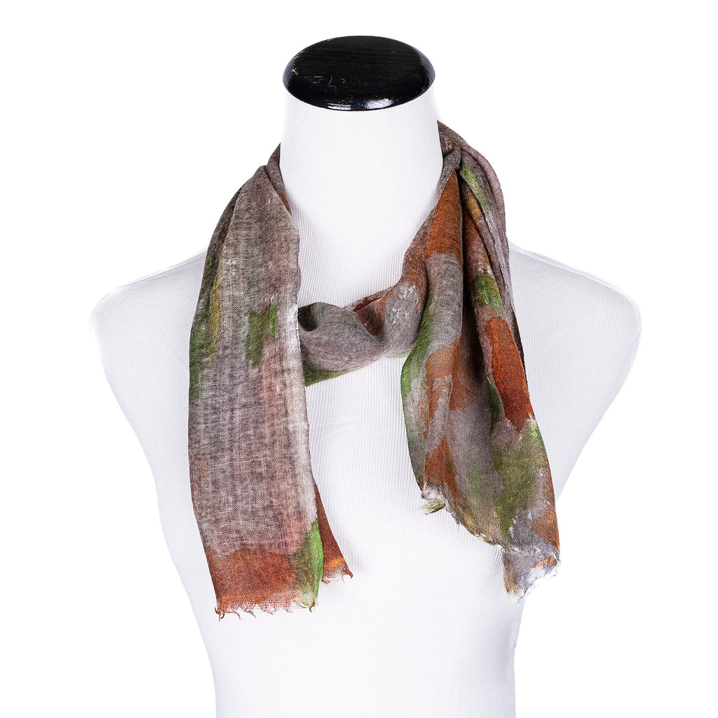 NEW! Small Handpainted Wool Scarf by Yuh Okano