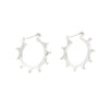 NEW! Sterling Silver Bumpy Hoop Earrings by Dahlia Kanner